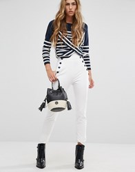 Tommy Hilfiger Tommyxgigi High Waist Button Detail Skinny Trousers Snow White