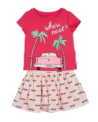 Kate Spade Where Next Tee W Hot Rod Skirt Size 2 6X Pink