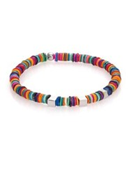 Tateossian Multicolor Shell And Sterling Silver Bracelet