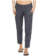 Prana Lizbeth Capris Coal Women's Casual Pants Gray