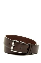 Cole Haan Rounded Edge Pinch Loop Genuine Leather Belt Brown