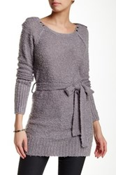 Chaudry Long Sleeve Studded Tunic Gray