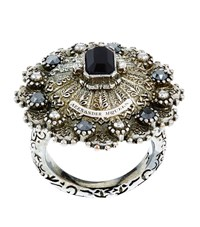 Alexander Mcqueen Embellished Circle Ring Female Silver