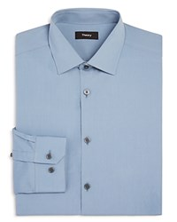 Theory Kenai Solid Stretch Slim Fit Dress Shirt 100 Bloomingdale's Exclusive Light Blue