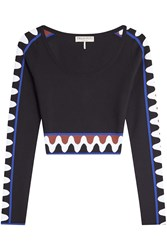 Emilio Pucci Printed Knit Crop Top