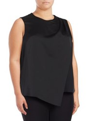 Lord And Taylor Plus Asymmetric Blouse Black