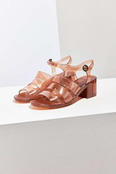Urban Outfitters Jelly Quarterstrap Heel Bronze