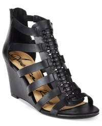 American Rag Amelia Woven Wedge Sandals Only At Macy's Women's Shoes Black