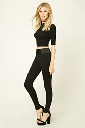 Forever 21 Seamed Panel Leggings