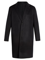 Acne Studios Charles Wool And Cashmere Blend Overcoat Navy