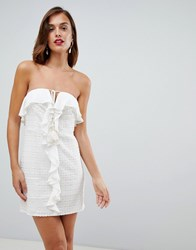 The Jetset Diaries Calloway Ruffle Mini Dress White