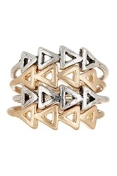 Melrose And Market Triangle Stack Ring Set Of 4 Metallic