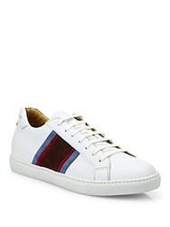 Sutor Mantellassi Leather Lace Up Sneakers Light Brown