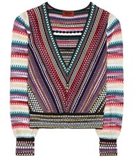 Missoni Striped Knitted Top Multicoloured