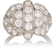 Stephanie Levy Women's Vintage White Diamond Ring Colorless