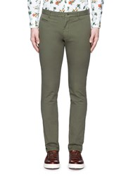 Altea Cotton Canvas Slim Fit Pants Green