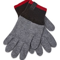 Universal Works Knitted Gloves Grey Brown