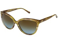 Michael Kors Jan Mk2045 55Mm Yellow Floral Amber Blue Gradient Fashion Sunglasses Brown