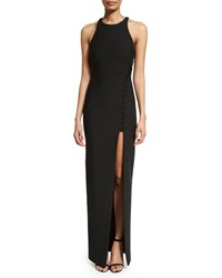 Elizabeth And James Amya Sleeveless High Slit Maxi Dress Black Sand Pink