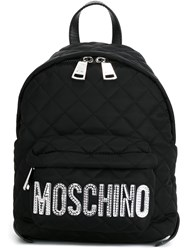 Moschino Quiltd Backpack Black