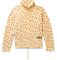 Martine Rose Bongo Batwing Oversized Floral Print Fleece Sweashirt Yellow
