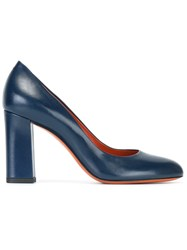 Santoni Chunky Heel Pumps Blue