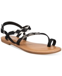 Bar Iii Vadya Hardware Sandals Only At Macy's Women's Shoes Black