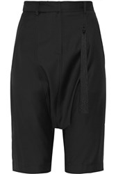 Adam By Adam Lippes Cropped Wool Twill Straight Leg Pants Black