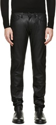 Naked And Famous Black Waxed Super Skinny Guy Jeans