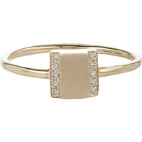 Jennie Kwon Women's Pave Diamond And Gold Box Ring No Color
