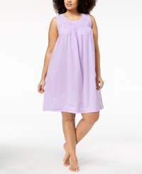 Charter Club Plus Size Cotton Woven Nightgown Created For Macy's Summer Lilac