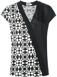 Fausto Puglisi Wrap Shortsleeved Blouse Black