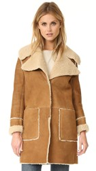 Mih Jeans Fairport Shearling Coat Bronze