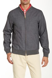 Gant R. The Hopsack Wool Bomber Gray