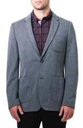 7 Diamonds Men's Ovierto Casual Blazer Light Grey