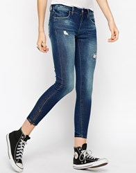 Blank Nyc Lightly Distressed Skinny Jeans Navy