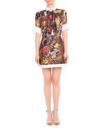 Mary Katrantzou Psychedelic Print Shirtdress Multi Multi Pattern