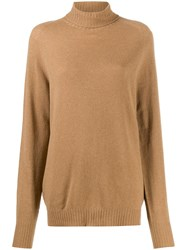 Ma'ry'ya Rollneck Knit Sweater Neutrals