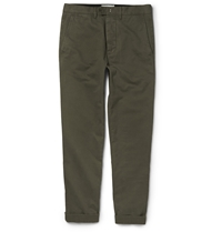 Officine Generale Fisherman Cotton Twill Chinos Green