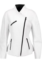 Proenza Schouler Textured Leather Biker Jacket White