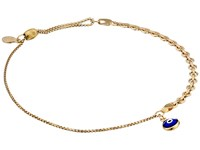 Alex And Ani Evil Eye Track Pull Chain Bracelet 14Kt Gold Filled Bracelet