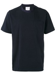 Sacai Silky Crew Neck T Shirt Blue
