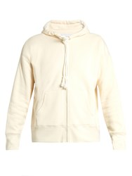 Raey Zip Through Japanese Jersey Hooded Sweatshirt Ivory