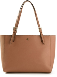 Tory Burch 'York' Buckle Tote Brown