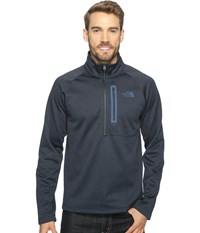 The North Face Canyonlands 1 2 Zip Urban Navy Heather Men's Long Sleeve Pullover Gray