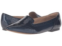 Isola Christie Ink Blue Goat Crinkle Patent Women's Flat Shoes