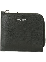 Saint Laurent 'Paris' Zipped Coin Pouch Black