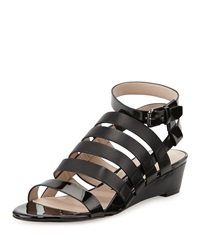 French Connection Winona Caged Wedge Sandal Black