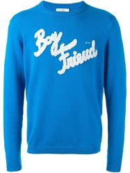 Sun 68 Boy Friend Patch Sweater Blue