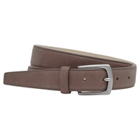 Reiss Kurzwell Slim Leather Belt Taupe